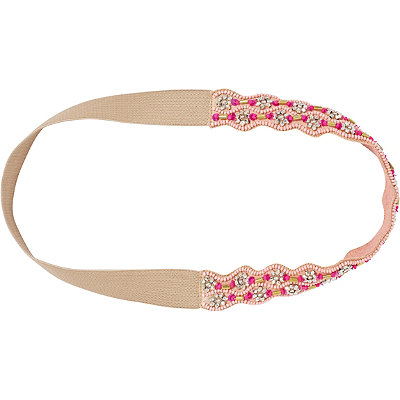 Coral Beaded Headwrap