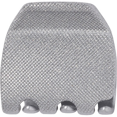 Silver Glitter Jaw Clip
