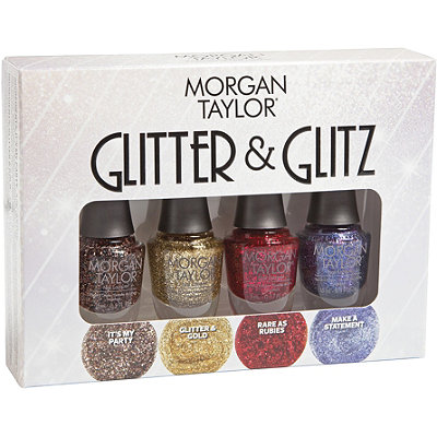 Morgan Taylor Glitter %26 Glitz Mini 4 Pc Set