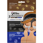 Yes to Triple Masking Kit with Coconut, Charcoal, and Super Blueberries
