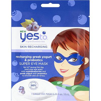 Yes toSuperblueberries Recharging Greek Yogurt %26 Probiotic Super Eye Mask