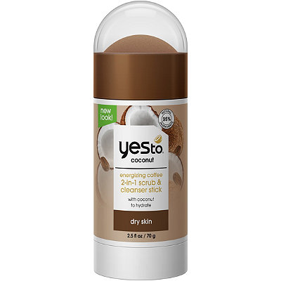 Yes toCoconut Energizing Coffee 2-in-1 Scrub & Cleanser Stick