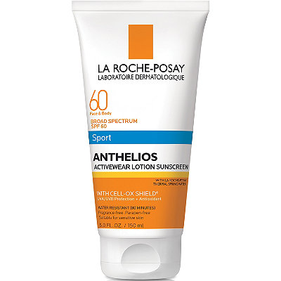 La Roche-PosayAnthelios 60 Face and Body Sport Sunscreen Lotion, SPF 60