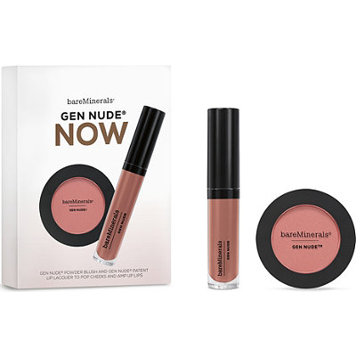 Gen Nude Now Gen Nude Powder Blush and Gen Nude Patent Lip Lacquer to Pop Cheeks and Amp Up Lips