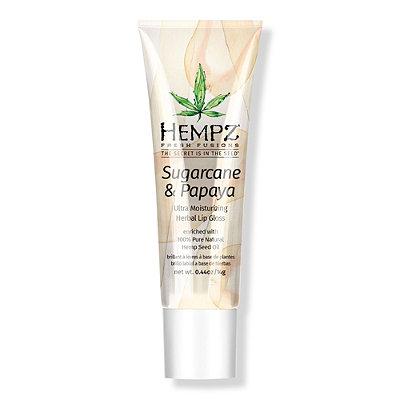 Sugarcane & Papaya Exfoliating Herbal Lip Gloss