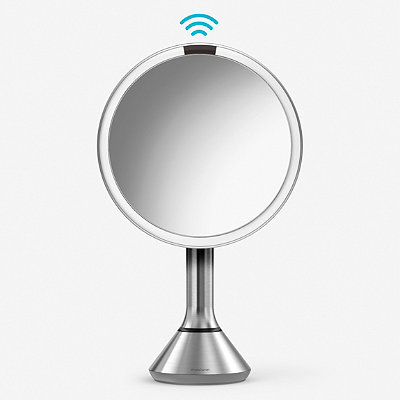 simplehuman Online Only 8%22 Round Sensor Mirror with Touch-Control Brightness