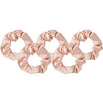 Kitsch Blush Satin Scrunchies 5 Count