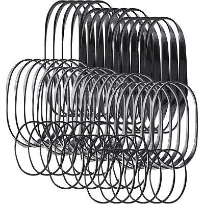 Black No-Snag Elastics