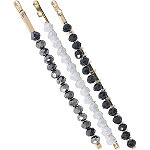 Kitsch Black and Silver Beaded Bobby Pins 3 Pc