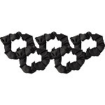Kitsch Black Satin Sleep Scrunchie 5 Pc