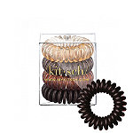 Kitsch Brunette Hair Tie Bobble 4 Pc