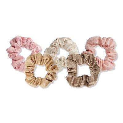 Blush Tone Hair Scrunchies 5 Pc