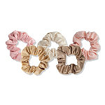 Blush Tone Hair Scrunchies 5 Pc