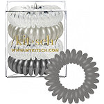 Kitsch Charcoal Hair Tie Bobble 4 Pc