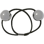 Kitsch Hematite Large Metal Bead Hair Tie