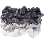 Black and Gray Hair Scrunchies 5 Pc