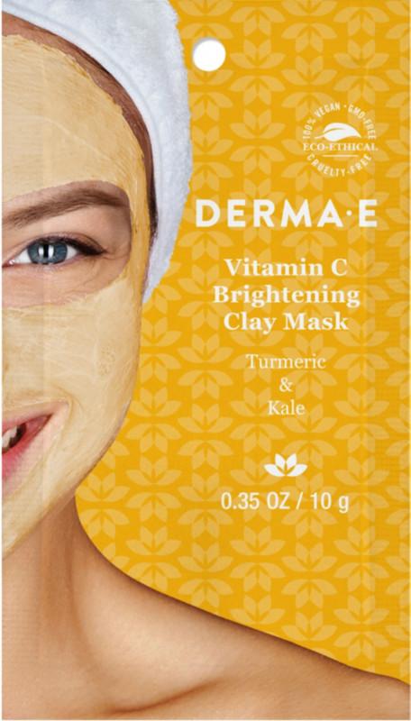 Vitamin C Brightening Clay Facial Mask Turmeric & Kale - 0.35 oz. by DERMA-E (pack of 2) Derma E Derma E  Moisturizer, 2 oz