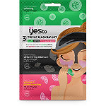 Yes to Triple Masking Kit with Cucumber, Charcoal and Grapefruit