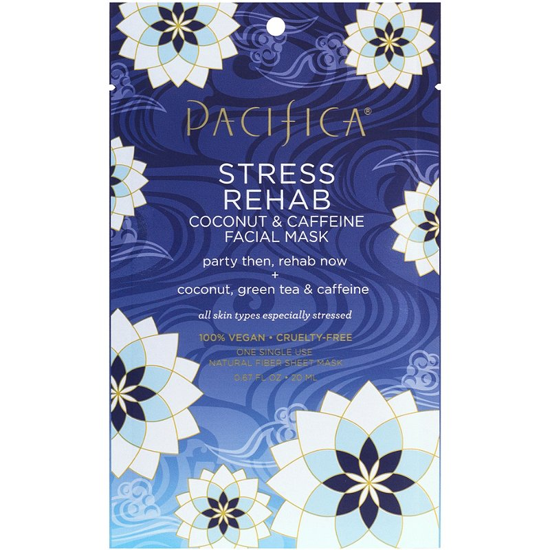 Image result for Pacifica Stress Rehab Coconut & Caffeine Facial Sheet Mask""