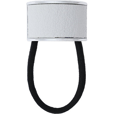 White Faux Leather Cuff Ponyholder