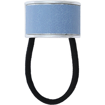 Blue Faux Leather Cuff Ponyholder