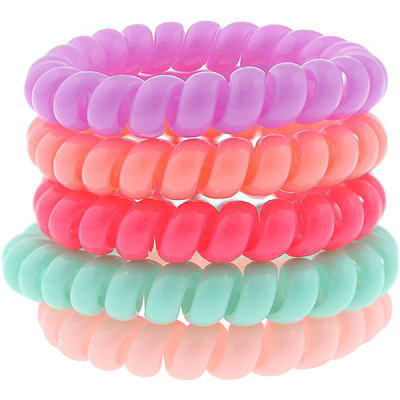 Opaque Coil Jelly Ponyholders