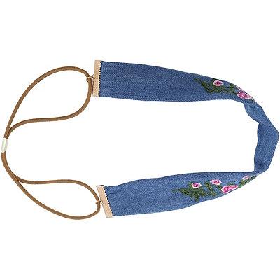 Denim Embroidery Headwrap