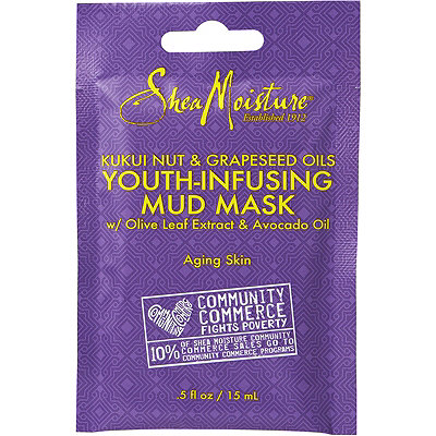 Kukui Youth-Infusing Mud Mask Packette with Olive Leaf Extract & Avocado Oil