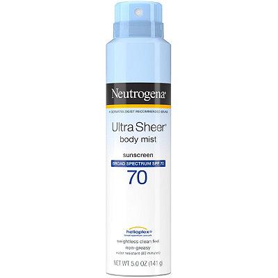 NeutrogenaUltra Sheer Body Mist SPF 70