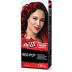 Splat 1 Wash No Bleach Hair Color Kit Red Pop