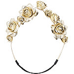 Gold Rose Headband