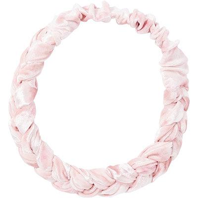Blush Braided Velvet Headband