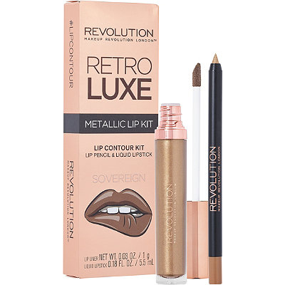Makeup RevolutionRetro Luxe Metallic Lip Kit