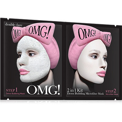 Online Only OMG! 2 in 1 Kit Detox Bubbling Microfiber Mask