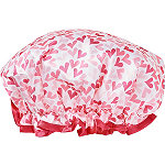 Beauty Smarts Shower Cap Hearts Pattern