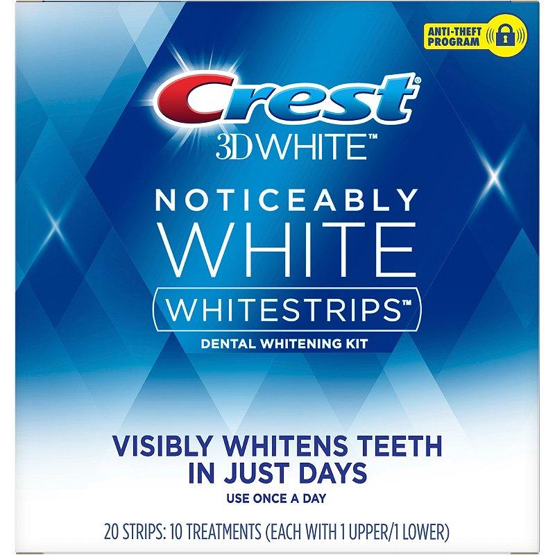 Crest 3d White Noticeably White Whitestrips Dental Whitening Kit