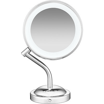 Online Only Lifetime LED Lighting 1X/5X Dual Sided Polished Chrome Mirror