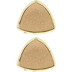 Rose Gold Triangular Glitter Claw Clips 2 Pc