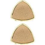 Rose Gold Triangular Glitter Claw Clips 2 Pc