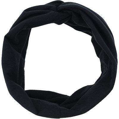 Black Twisted Front Tubular Headwrap
