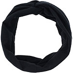 Black Twisted Front Tubular Headwrap