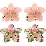 Mini Flower Claw Clips 4 Pc