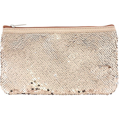 Rose Gold Reversible Sequin Pouch