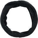 Black And Metallic Knit Twisted Front Headwrap