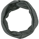 Gunmetal And Metallic Knit, Twisted Front Headwrap