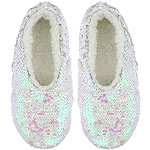 Reversible Sequin Slipper Sock S/M