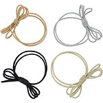 Metallic Triple Bow Elastic Pony Holders 4 Pc