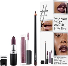 Matte + Metallic Plum Lip Kit / Instant Artistry