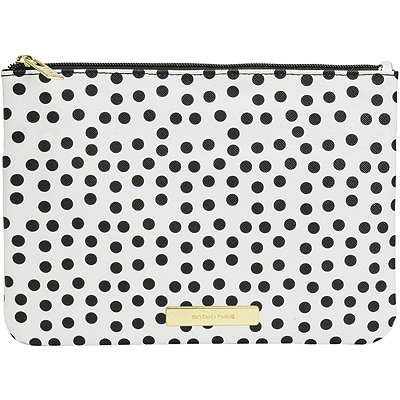 Polka Dot Colorblock Large Clutch