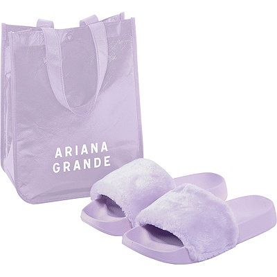 FREE Fuzzy Slides w/any medium spray Ariana Grande Women's fragrance collection purchase